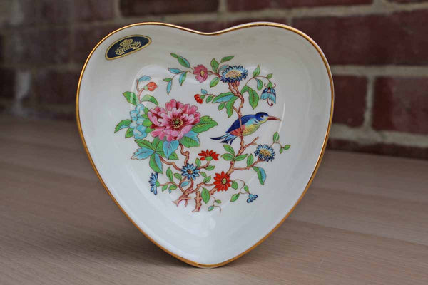 Aynsley (England) Bone China Pembroke Heart-Shaped Dish