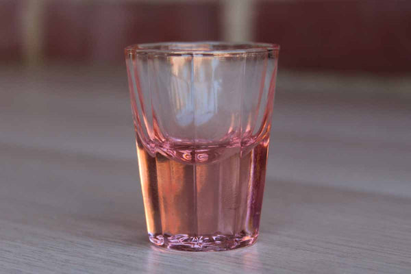 Faceted Pink Shot Glass