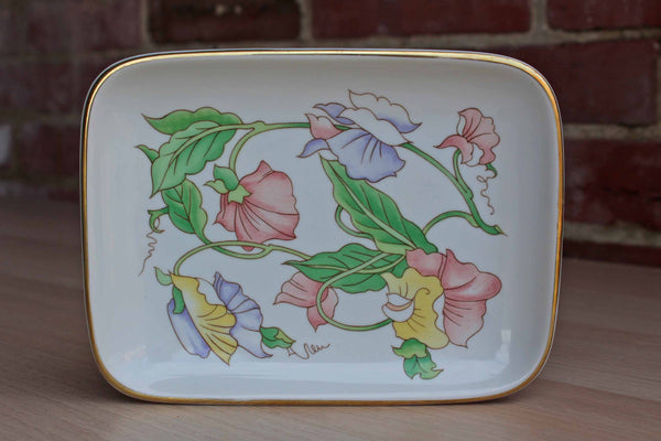 Ben Rickert, Inc. (Japan) Small Ceramic Dish Decorated with Colorful Flowers