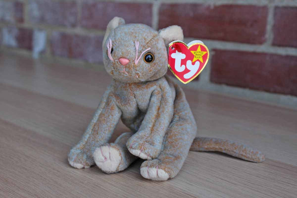Ty Inc. (Illinois, USA) 1998 Scat the Frowning Cat Beanie Baby