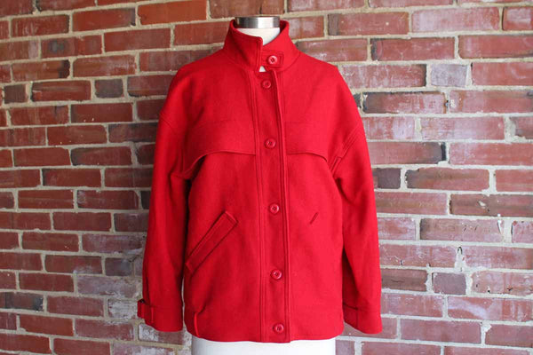 Woolrich (Pennsylvania, USA) Red Wool Woman's Jacket, Size Small