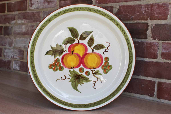 "Stangl Pottery (New Jersey, USA) Large Round ""Apple Delight"" Hand Painted Serving Platter"