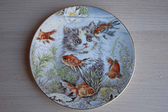 Royal Worcester Crown Ware (England) Fishful Thinking by Pam Cooper Decorative Plate