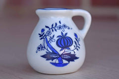 Reutter (Germany) Miniature Porcelain Pitcher with Blue Onion Design