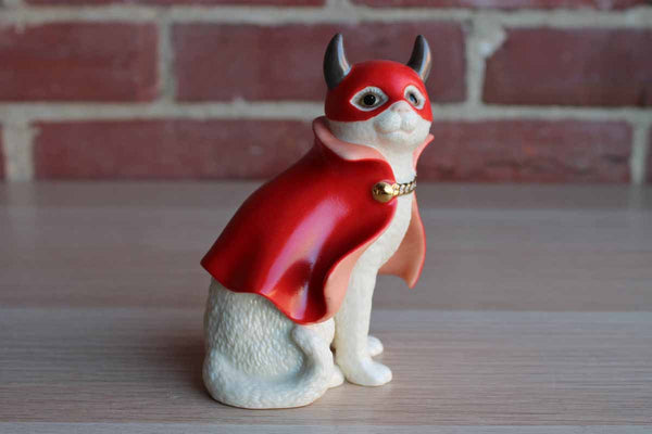 Lenox China (USA) Porcelain Little Devil Cat in a Red Cape Figurine