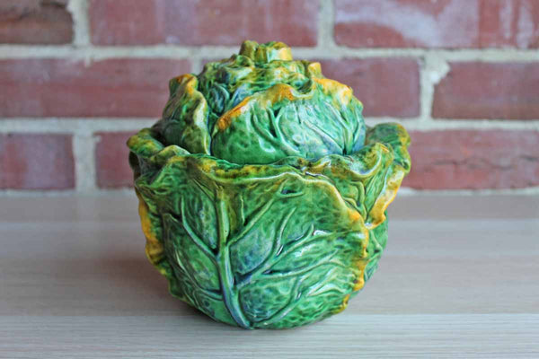 Majolica Green Cabbage Tureen