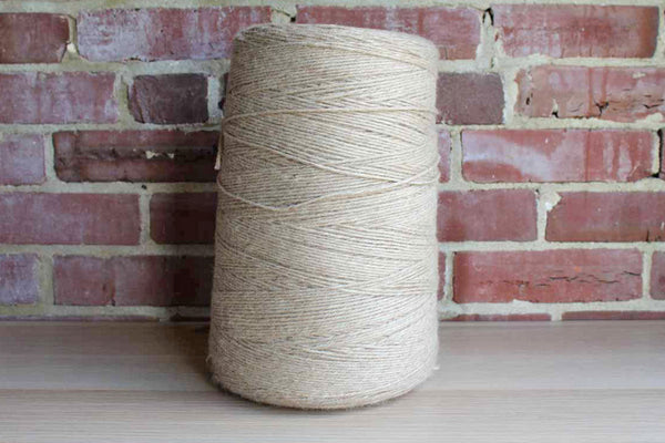Large Spool of Natural Colored Yarn