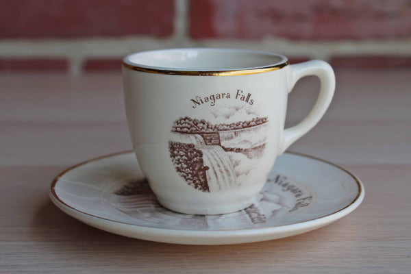 ENCO (New York, USA) Views of America Porcelain Niagara Falls Cup and Saucer