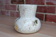 Hand Carved Gourd Shaped Stone Vase with Beautiful Striations of Color
