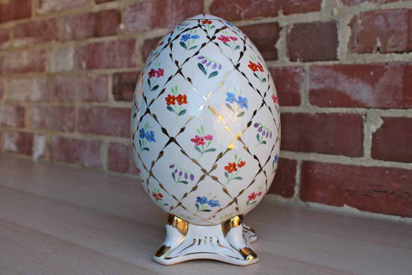 "Formalities by Baum Bros. (China) Porcelain 9 1/2"" Decorative Egg"