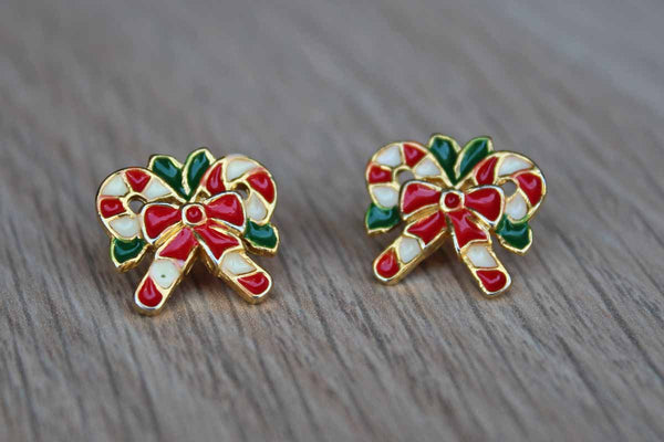 Candy Cane Pierced Earrings