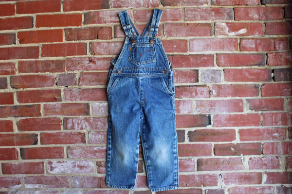 Levi Strauss & Co. (California, USA) Cotton Denim Overalls, Children's Size 4