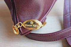 Etienne Aigner (New York, USA) Small Brown Leather Crossbody Bag