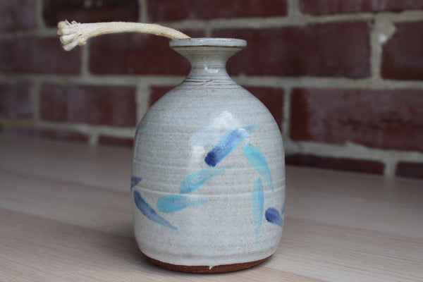 Handmade Stoneware Oil Lamp with Wick
