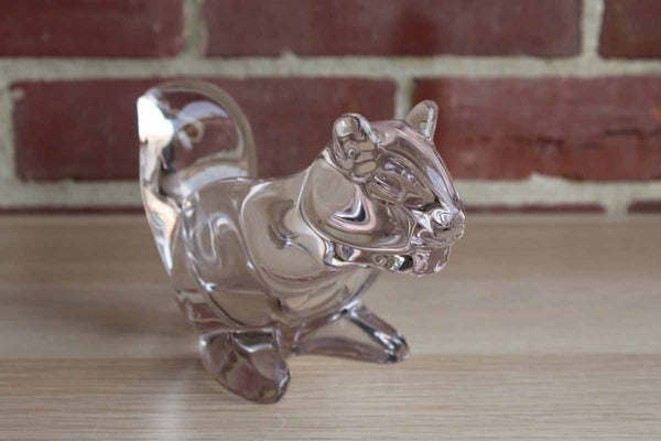 Heavy Lead Crystal Squirrel Bowl