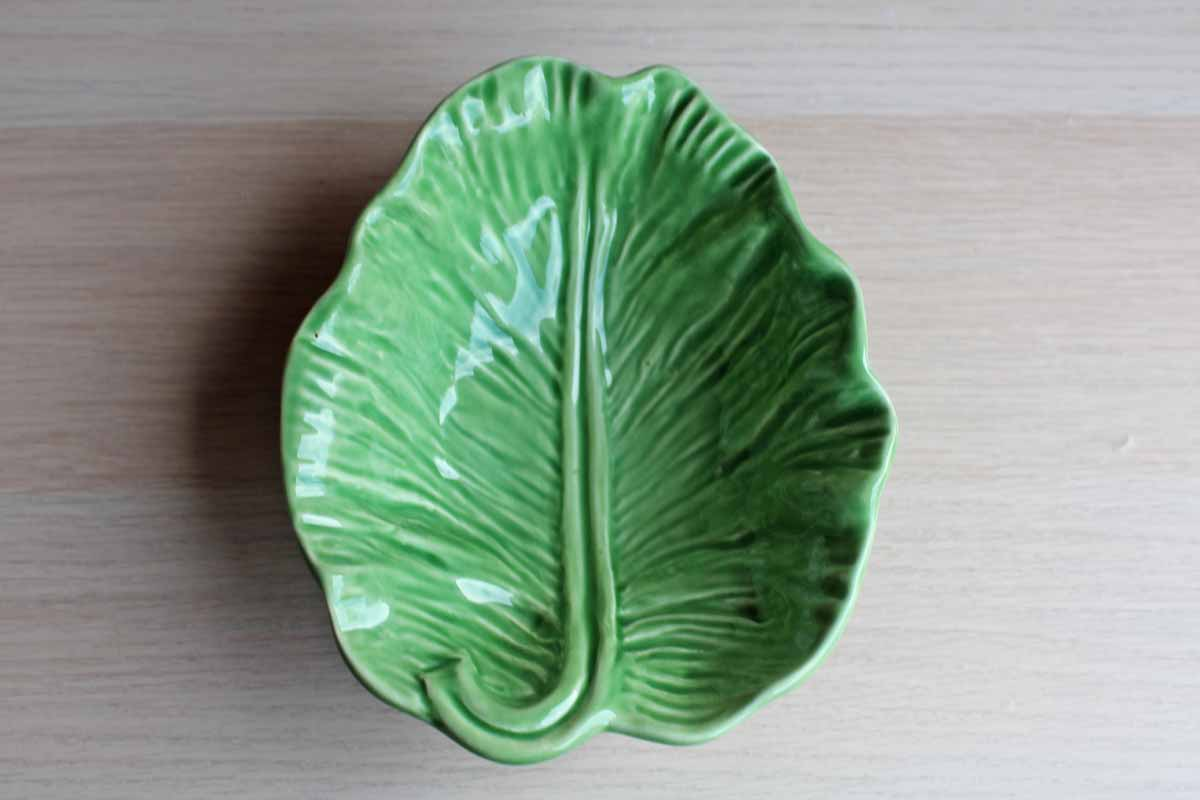 Olfaire (Portugal) Glossy Green Cabbage Leaf Bowl