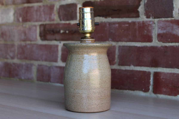 Little Tan Stoneware Table Lamp (no lampshade)