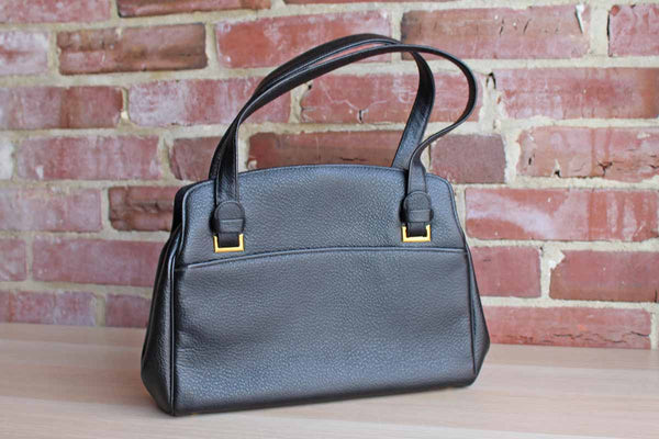 Black Leather Satchel Purse