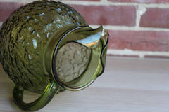 Anchor Hocking (Ohio, USA) Milano Green Ball Pitcher with Ice Lip
