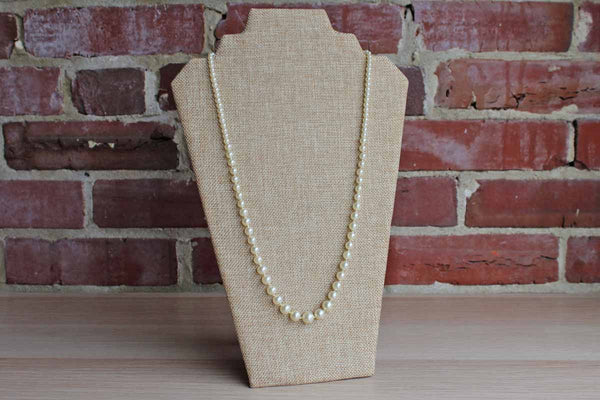 Long Faux-Pearl Graduated Necklace