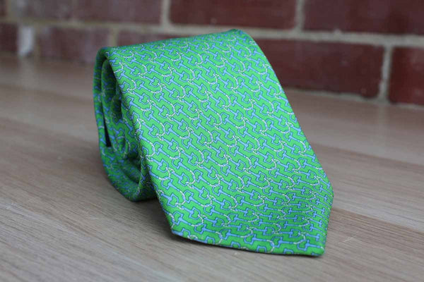 Brooks Brothers (New York, USA) 100% Silk Necktie Decorated with Ropes and Hooks