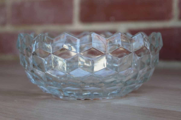 Fostoria Glass Company (West Virginia, USA) American Clear Divided Nut/Candy Dish