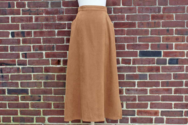 Pendleton Woolen Mills (Oregon, USA) Soft Brown Polyester Microfiber Long Skirt, Size 10