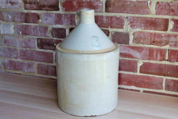 Primitive Stoneware 3 Gallon Jug