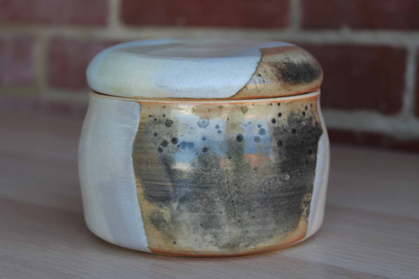Handmade Stoneware Box with Organic Nature-Inspired Design