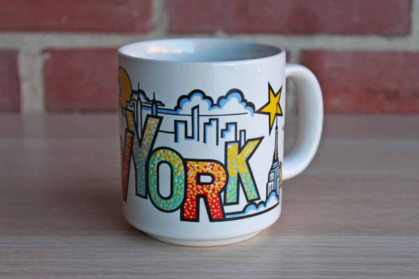 "Ceramic ""New York"" Handled Drink Mug"