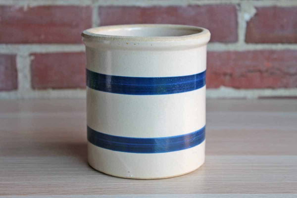Robinson Ransbottom Pottery (Ohio, USA) Stoneware Crock Decorated with Cobalt Blue Stripes