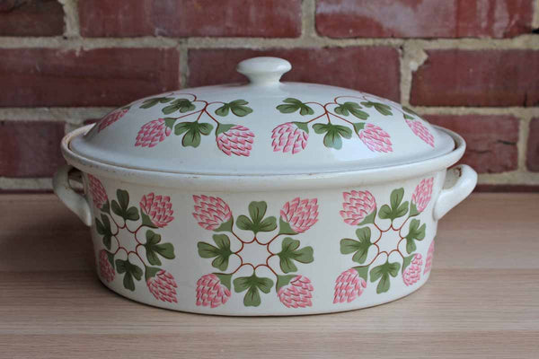 Hall China Company (Ohio, USA) Pink Clover Covered Casserole