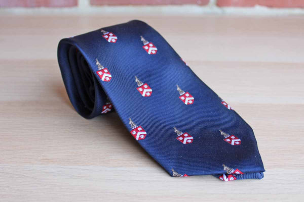 Harstan Ties (Maryland, USA) Michael Bruce Silk Blend Necktie Decorated with Oryx and Coat of Arms