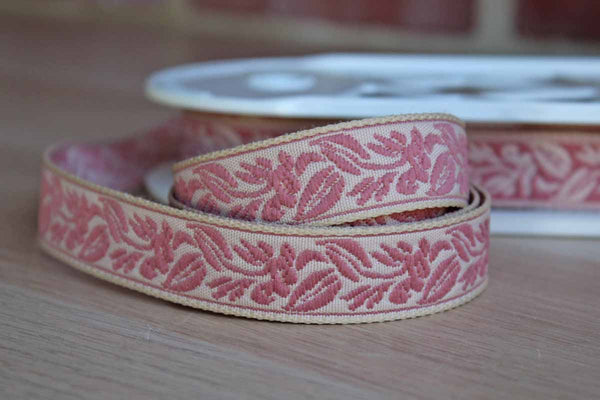 St. Louis Trimming (Missouri, USA) Colonial Rose Leaf Jacquard Trim, Price by the Yard