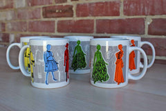 Philadelphia Museum of Art 1997 Best Dressed:  250 Years of Style Coffee Mugs, 5 Pieces