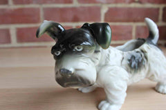 Black and Gray Terrier Planter, Made in Japan