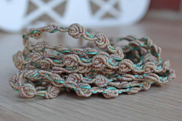 St. Louis Trimming (Missouri, USA) Blue, Green, and Pink Coiled Polyester Trimming