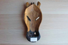 Hand-Carved Decorative Wood Giraffe Mask, Made in Kenya