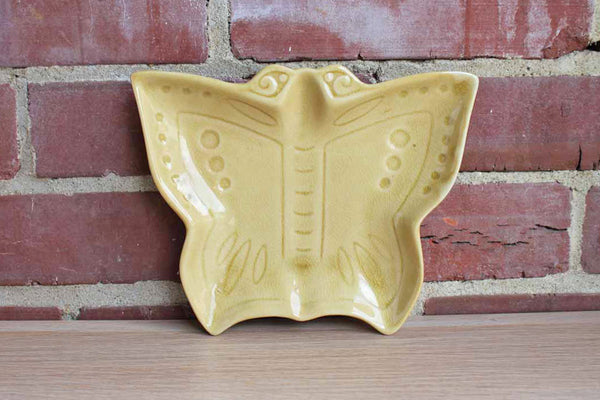 Gold Ceramic Butterfly Dish