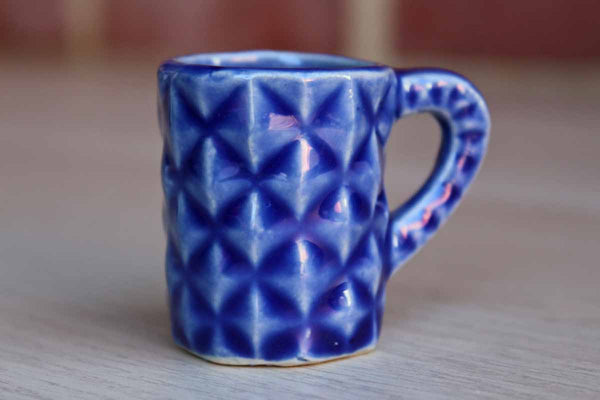 Miniature Ceramic Cobalt Blue Pitcher