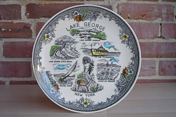 Ceramic Lake George Souvenir Plate