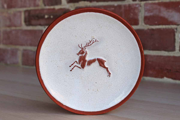 Leaping Stag Decorative Trinket Dish/Wall Plate