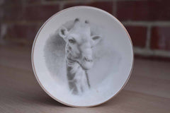 Little Porcelain Pin Dish with Giraffe Head Decoration