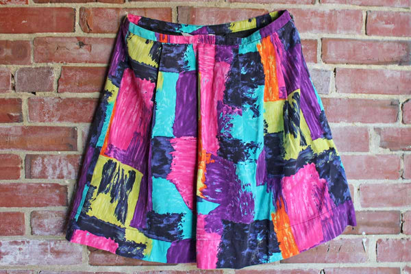Trina Turk (California, USA) Colorful Short Pleated Skirt, Size 10