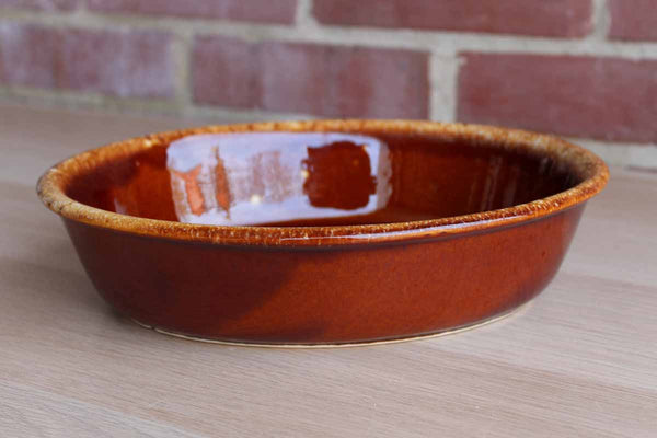 Hull Art Pottery (Ohio, USA) House 'N Garden Mirror Brown Oval Baking Dish