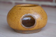 Small Handmade Stoneware Candle Votive
