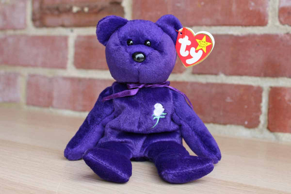 Ty Inc. (Illinois, USA) 1997 Princess the Purple Bear in Honor of Princess Diana Beanie Baby