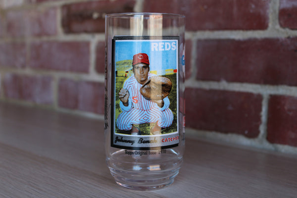 McDonald's All Time Greatest Team Glass 2 of 9:  Johnny Bench of the Reds