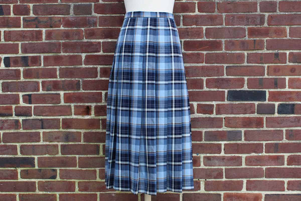 Pendleton Woolen Mills (Oregon, USA) 100% Pure New Wool Plaid Swingy Skirt, Size 10
