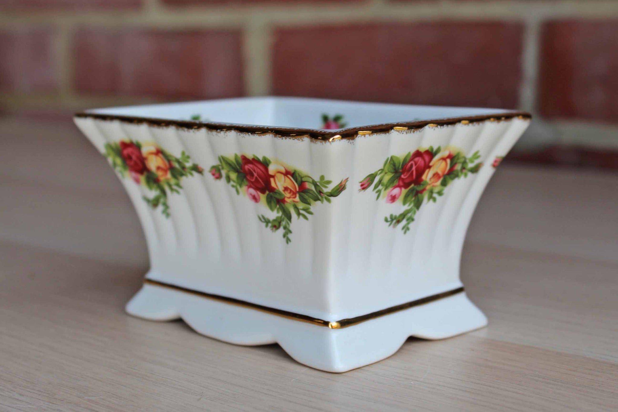 Royal Albert (England) Old Country Roses Porcelain Container